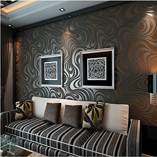 QIHANG-Modern-Luxury-Abstract-Curve-3d-Wallpaper-Roll-Mural-Papel-De-Parede-Flocking-for-Striped-Blackbrown-Color-Qh-wallpaper-07m84m588-0