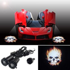 SHEO-2x-Cool-fire-Ghost-rider-skull-Car-Door-step-Cree-LED-welome-logo-shadow-ghost-light-laser-projector-LED-projection-light-0