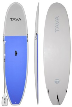 Tava-105-Blue-Stand-Up-Paddle-Boards-Alloy-Adjustable-Paddle-Features-A-Durable-Epoxy-Construction-and-All-Around-Stable-Shape-for-Flatwater-Small-Surf-Full-Deck-Traction-Lets-you-Carry-Extra-Passenge-0