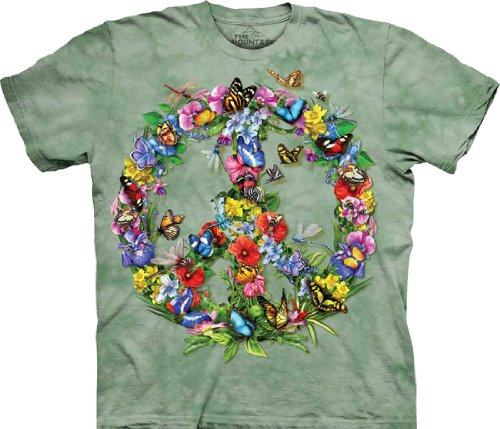 Tie-Dyed-Shop-Peace-Sign-Tie-Dye-T-Shirt-Butterflies-and-Dragonflies-Small-to-5X-0