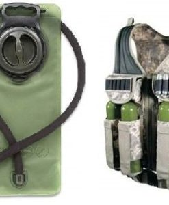 Ultimate-Arms-Gear-ACU-Army-Digital-Camo-Tactical-Scenario-Stealth-Black-Paintball-Airsoft-Battle-Gear-Tank-Armor-Pod-Vest-w-Heacy-Duty-Belt-OD-Olive-Drab-Green-25-Liter-84-oz-Replacement-Hydration-Ba-0