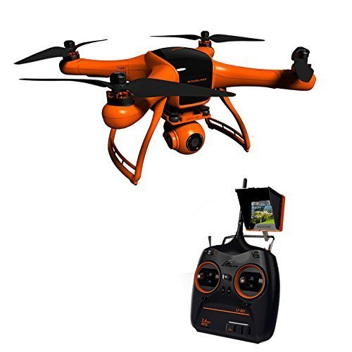 WINGSLAND-Minivet-24G-10CH-POI-FPV-Quadcopter-with-GPS-Auto-Return-Function-12901080-HD-Camera-with-Monitor-and-Intelligent-Flight-Battery-0