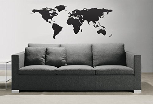 Earth Wall Decal Sticker By Stickerbrand Easy To Ly And Removable Made In The Usa No Glue Or Paste Needed Residue Safer Than Wallpaper
