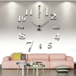YESURPRISE-Modern-3D-Frameless-Large-Wall-Clock-Watches-Hours-DIY-Room-Home-Decorations-with-Bookmark-Magnifier-0