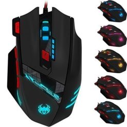 2016-New-Version-Zelotes-T90-Professional-9200-DPI-High-Precision-USB-Wired-Gaming-Mouse8-ButtonsWith-7-kinds-modes-of-LED-Colorful-Breathing-Light-Weight-Tuning-Set-Black-0