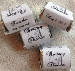 300-Personalized-MONOGRAM-WEDDING-CANDY-WRAPPERSStickersLabels-Make-your-own-event-or-party-favors-using-your-HERSHEY-NUGGET-CHOCOLATES-0