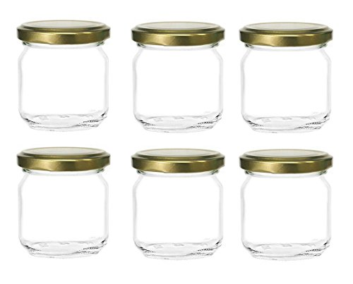 Nakpunar 6 Pcs 8 Oz Glass Jars For Jam Honey Wedding Favors