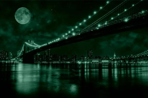 Startonight-Wall-Art-Canvas-Brooklyn-Bridge-New-York-USA-Design-for-Home-Decor-Dual-View-Surprise-Artwork-Modern-Framed-Ready-to-Hang-Wall-Art-2362-X-3543-Inch-100-Original-Art-Painting-0-0