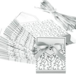 TINYPONY-Wedding-Favour-Favor-Sweet-Cake-Boxes-Bags-100-Silver-0