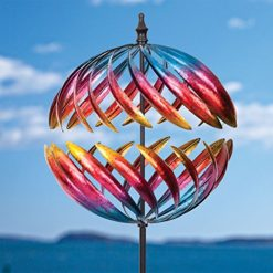 Bits-and-Pieces-Magnificent-Jupiter-Two-Way-Wind-Spinner-Multicolor-Kinetic-Garden-Windspinner-Decorative-Lawn-Ornament-Wind-Mill-Unique-Outdoor-Lawn-and-Garden-Dcor-0