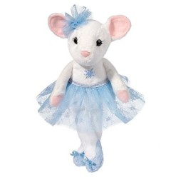 Douglas-Cuddle-Toys-9-Plush-SILVER-BELL-TUTU-the-WHITE-BALLERINA-MOUSE-Holiday-2014-0