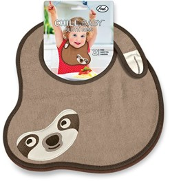 Fred-and-Friends-CHILL-BABY-Sloth-Bibs-2-Count-0