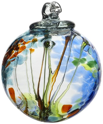 Kitras-Art-Glass-Decorative-Spirit-Ball-6-Inch-Light-Blue-0