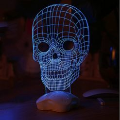 3D-Visualization-LED-Light-JVR-LH46-Skull-Shape-Optical-Illusion-Night-Light-Sculpture-Home-Decoration-Lamp-Desk-Light-with-Touch-Control-Clover-Base-for-Kids-Families-Creative-Gift-Blue-Light-0