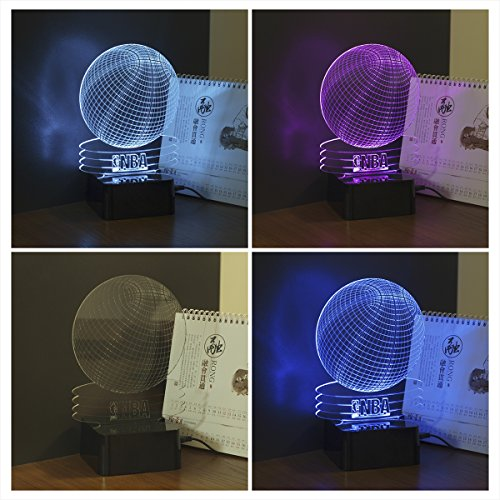 CNHIDEE NBA Basketball Teams 3d Optical Illusion Table lamp with RGB 7  Color Touch Control LED table Light with USB Power Port Table Lamp 3D  illusion night ... - CNHIDEE NBA Basketball Teams 3d Optical Illusion Table Lamp With