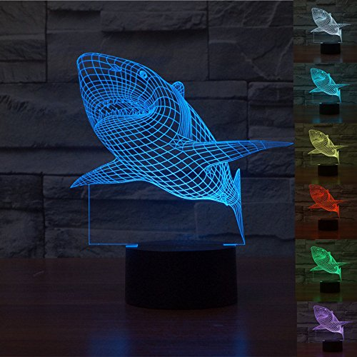 Huiyuan-3d-Night-Lamp-Colorful-Shark-Shape-Touch-Control-Light-7-Colors-Change-USB-LED-for-Desk-Table-with-Multicolored-USB-Powered-Home-Decoration-Best-Gift-for-Valentines-Day-0