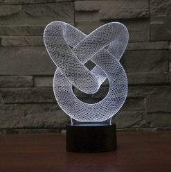 Optical-Illusion-3D-Chain-Link-Lighting-by-Playtime-123-is-a-Great-Nightlight-with-a-Soft-Subtle-Glow-for-Kids-These-Eco-friendly-Laser-Cut-Precision-LED-Lights-Make-Beautiful-Gifts-for-Mom-and-Amazin-0