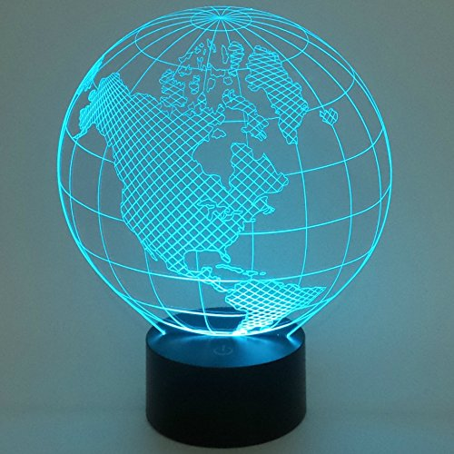 Optical-Illusion-3D-World-Lighting-by-Playtime-123-is-a-Great-Nightlight-with-a-Soft-Subtle-Glow-for-Kids-These-Eco-friendly-Laser-Cut-Precision-LED-Lights-Make-Beautiful-Gifts-for-Mom-and-Amazing-Des-0
