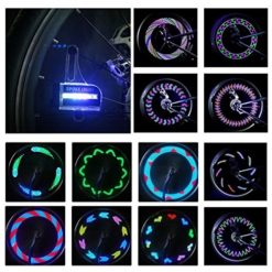 DAWAY-Bright-Bike-Wheel-Lights-Waterproof-LED-Spoke-Light-for-Night-Riding-Different-Patterns-Change-Best-Christmas-Gifts-Birthday-Presents-for-Boys-Girls-Adults-0