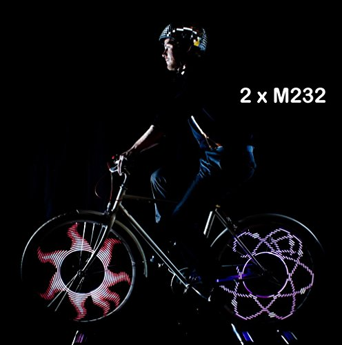 Monkey Light M232 200 Lumen Bike Wheel Light 32 Full Color